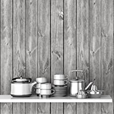 DeStudio 'Wooden Grey Texture' Wallpaper Sticker