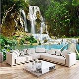 Wasserfall-Landschafts-3D Fernsehhintergrund-Fototapete-Wohnzimmer-Schlafzimmer-Gewohnheits-Wandgemälde-Wandverkleidung
