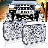 HONGFEI (2 Stück) Rechteckige LED-Scheinwerfer Für Jeep Wrangler YJ Cherokee XJ Trucks 4X4 Offroad-Scheinwerfer-Ersatz