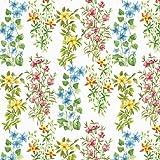 4tovaglioli per decoupage-a strati, 33x 33cm-fiori di campo (4individuali per artigianato e tovaglioli Art.)