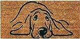 Bestgoodies braune Kokosfaser Fußmatte 25x50 cm (Hund), weitere Motive erhältlich