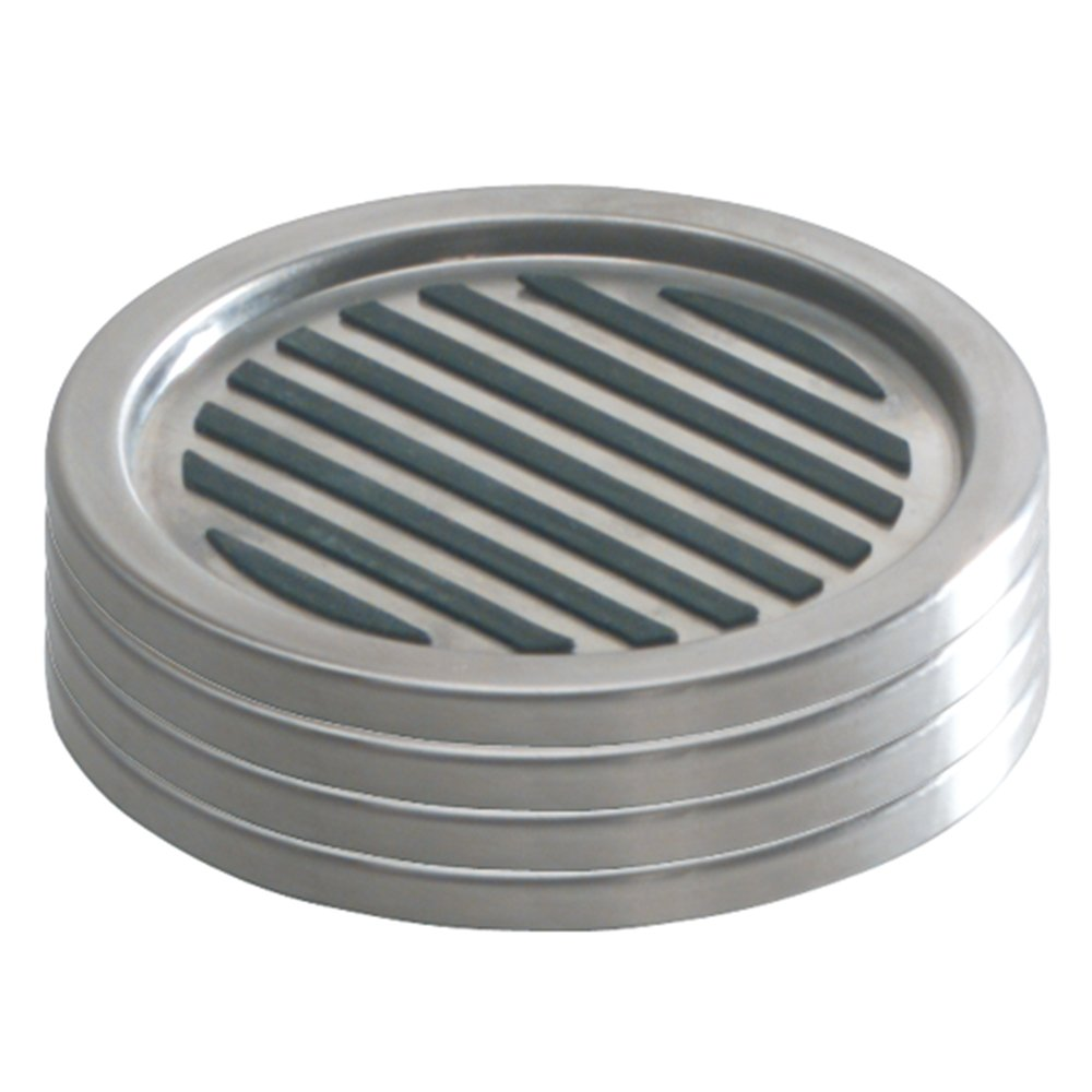 interdesign brushed stainless steel linea coasters set of  grey  - interdesign brushed stainless steel linea coasters set of  greyamazoncouk kitchen  home