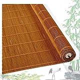 ZEMIN bambù Avvolgibile Tenda Rullo Roll-up Tenda Oscurante A Prova di Polvere Terrazza 40% Filtraggio della Luce, 2 Colori, Taglia Personalizzabile (Color : B, Size : 135cmx175cm)