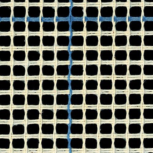 Canevas pour tapis/tapisserie - 3trous/2,5cm - Lignes bleues, bleu, 100cm x 200cm