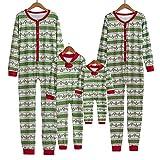Riou Weihnachten Set Baby Kleidung Pullover Pyjama Outfits Set Familie Familie Passenden Weihnachten Pyjamas Set Frauen Kind Erwachsene PJs Nachtwäsche (M, Mom)