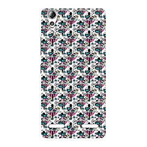 Neo World Blue Pink Pattern Back Case Cover for Lenovo A6000