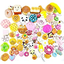 20 Pacchi Casuali Squishy Kawaii Slow Rising Squishy Panda Pane Emoji Squishy Originali Per Bambini Giocattolo Gift