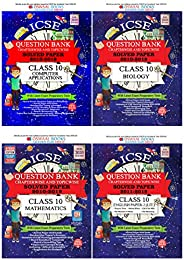 Oswaal Class 10 ICSE Ques Bank Computer Applications Chapterwise + Ques Bank Biology Chapterwise + Ques Bank M