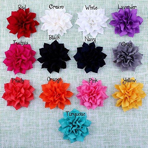 ben flachen Schönes Bohemian-Stil DIY Handarbeit Dekorative Chiffon Blumen für Haar Clips, Scrapbooking und mehr Dekoration, Hochzeit Blumen Lutos Flowers ()
