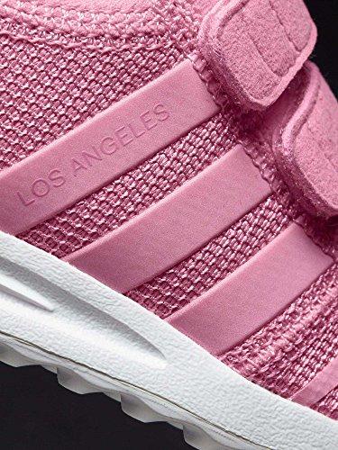 adidas Los Angeles Cf, Espadrillas Unisex – Bimbi 0-24 Rosa