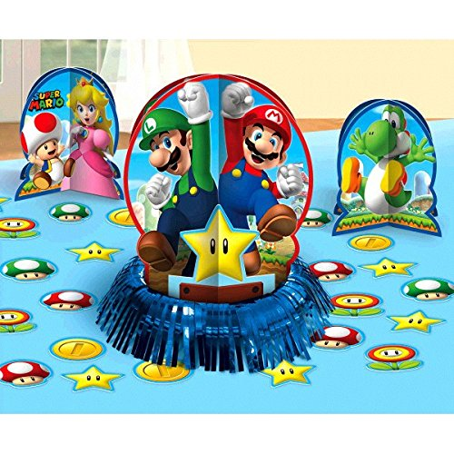 Amscan 281554Super Mario-Tisch, Deko-Sets (Mario Dress Up)