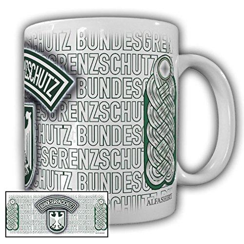 Tasse Major BGS Bundesgrenzschutz Wappen Abzeichen Andenken Schulterklappe Uniform #23702