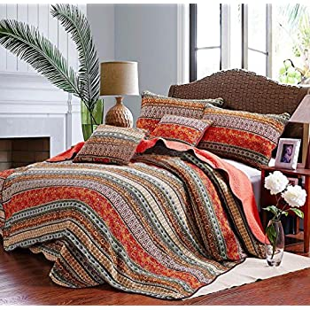 Beddingleer King Size Morocco Style 100% Cotton Quilted Bed Spread ... : king size quilted bedspread sets - Adamdwight.com