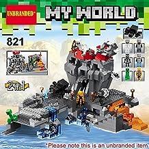 My World branded* - 2in1 skull island adventure / building blocks set #821-mine