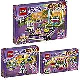 Lego Friends Freizeitpark 3er Set 41128 41129 41133 Raketen-Karussell + Hot-Dog-Stand + Autoscooter - sofort lieferbar!