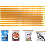 INOVERA (LABEL) Plastic Airtight Leakproof Bag Sealer Sealing Clips Sticks Chips, Pack of 10 (Assorted Color, Made in India)