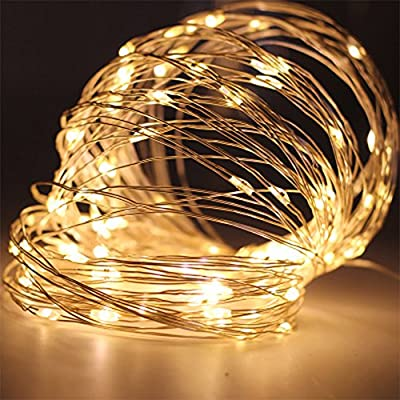 Profusion Circle Led String Lights Fairy Micro Lights 1M 10 LEDs Battery Powered Silver Wire Waterproof Lights for Holiday Party Wedding Centerpiece Bottle Decoration : everything £5 (or less!)