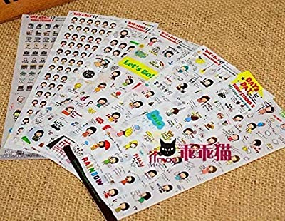 Beauty*Top*Picks Cute Word Expression Diary Album Scrapbooking Sticker Calendar Card : everything £5 (or less!)
