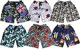#9: KIFAYATI BAZAR Kids Boys Printed Shorts Bottom Half Pants Bermuda Shorts for All Ages Size Pack of 6