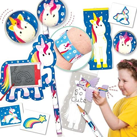 Super Confezione Risparmio Giocattoli a Tema Unicorni Arcobaleno Perfetti per Giocare o per Sacchetti Regalo per Feste di Bambini . Risparmio del 18%.