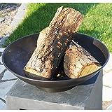 Design-Feuerschale mit Holzablage - 6