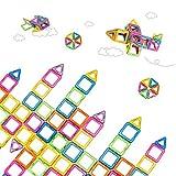 VFUNIX Magnetische Bausteine 66tlg Bausteinen Konstruktionsbausteine Bauklötze Baukasten Konstruktion Blöcke | Magnetspielzeug Lernspielzeug für Baby Kleinkind ab 3 Jahre