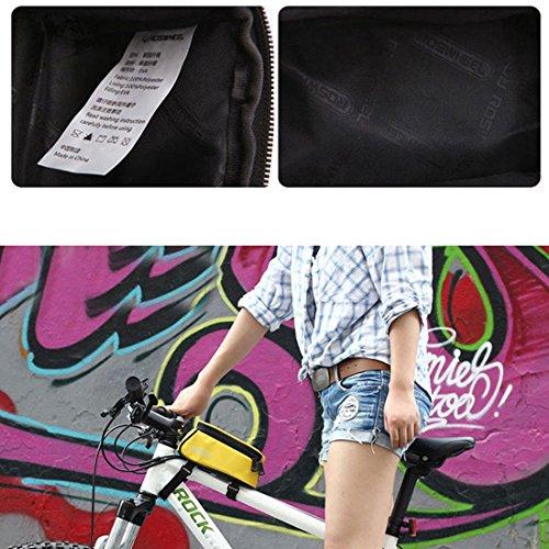 KoKeo_Store Fahrradrahmen Tasche Vorderer Top Tube Touchscreen Satteltasche Wasserdicht Radfahren Frame Bag Transparent Touchable Zitronengelb
