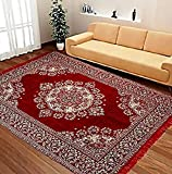 #4: Top Quality- Beautiful Chennile Carpet for Home/Office with Ethnic Design by Shop4indians(60 inches x 84 inches)