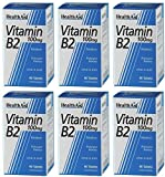 (6 PACK) - HealthAid - Vitamin B2 (Riboflavin) 100mg | 60's | 6 PACK BUNDLE