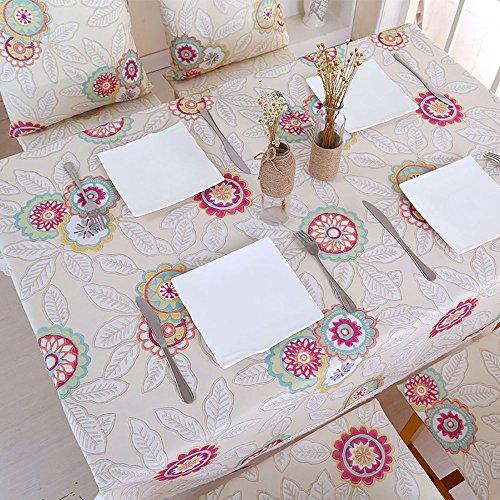 Pingenaneer Tischdecken Wasserdichte Einfacher Stil Tischdecken Esstisch Schmutzabweisend Waschbar Tischtuch für Küche, Esszimmer, Garten, Balkon oder Camping - 150*150cm