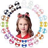 40pcs neonate capelli fiocchi cravatte per capelli fascia elastica supporto coda di cavallo elastico corde per capelli access