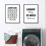 ZGZART Laundry Today Room Wall Decor Blanchisserie Symboles Guide Art Toile Peinture Imprimer Affiche Buanderie Mur Photo Déc