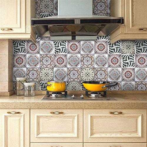 *PLYY Küche Ölsticker Hochtemperatur-Kochherde Wasserdichte Haube Wandfliesen Tapete Selbstklebende Kabinettaufkleber, 9*