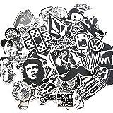 Suboer 50pcs Aléatoire Autocollants Snowboard Vintage Vinyl Skateboard Stickers Autocollant Aléatoire Graffiti Laptop Bagages Car Bike Stickers vélo mix Alot Cool Decal