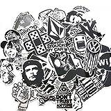 Suboer 60pcs Aufkleber für Skateboard Snowboard wasserdicht Weinlese Vinylaufkleber Graffiti Laptop Gepäck Auto Fahrrad Koffer Kühlschrank stickerbomb Decals mischen Lot Art und Weisekühler