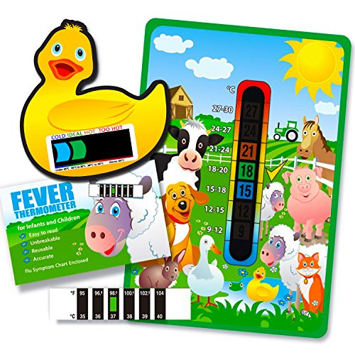 pack-of-happy-family-farm-yard-animals-nursery-and-room-thermometer-duck-bath-thermometer-and-forehe