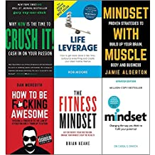 Crush it why now is the time to cash in on your passion, life leverage, mindset with muscle, how to be fucking awesome, fitness mindset and mindset carol dweck 6 books collection set