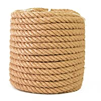PetHot 30M 28MM Natural Jute Hessian Rope Cord Braided Twisted Boating Garden Decking DIY Plant Hangers