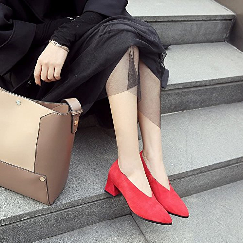 CXY Printemps Au Talons D eacute;but du Printemps Talons Au Hauts Chaussures Paresseuses en Cuir Chaussures Femmes Frotter - B07DZCBD56 - 033dda