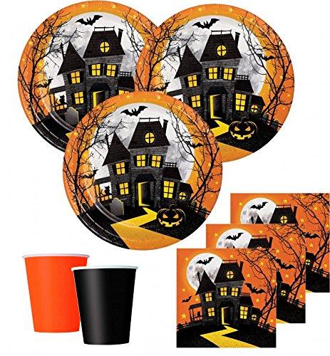 eko Set Halloween Spukschloß Geister 16 Personen (Person Halloween)