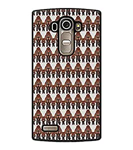 PrintDhaba Elephant Pattern D-5904 Back Case Cover for LG G4 (Multi-Coloured)