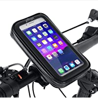 PTron Shock & Dustproof Handlebar Mount ST2B Waterproof Zip Pouch Mobile Phone Holder Case with Touch Screen, 360…