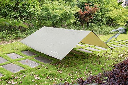 Himifutre 3m x 3m impermeabile Ripstop Rain Fly amaca TARP cover Tent Shelter telone...