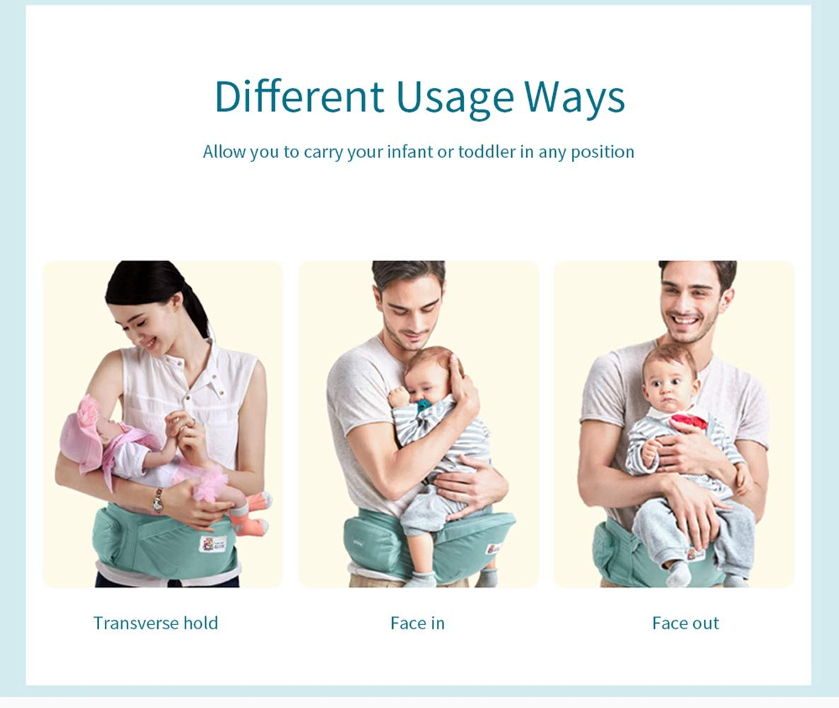 Baby Infant Waist Stool Carrier, Toddler Hip Seat Carrier with Hip Holder Belt for Front Waist Seat Carrier for Newborn Kids  Perfectii