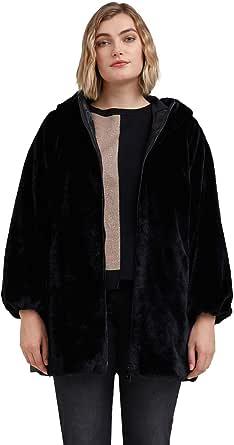 Fiorella Rubino : Cappotto in Tessuto Effetto Pelliccia Donna (Plus Size)