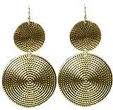 KARNEVALS-GIGANT Ohrringe mit Zwei Münzen für Karneval oder Fasching
