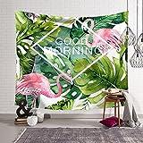 WANG-shunlida Weiße Flamingo Wandteppich, Schlafzimmer Decke, Tischdecken, Couch, Decke, Badetücher, Hintergrund - Tuch, Foto - Wand, Decke, Tapetenklebearbeiten Tuch,8,150Cmx200Cm