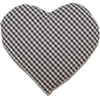 Rapssamenkissen Herz | ca. 30x25cm Bio Stoff blau-weiß | Wärmekissen | Körnerkissen | Ein charmantes Geschenk preisvergleich bei billige-tabletten.eu