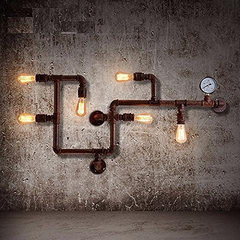 Winson American retrò della parete del tubo di luce Loft industriale personalità creative ferro corridoio luci da parete Ristorante e Bar Nordic