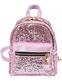 BESTVECH Fashion Fashion Women PU Leather Bling Backpack Mini Small Bag Sequins SchoolBags